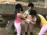 Three Babes Get Lezzie Outdoor